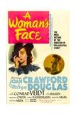 A WOMAN'S FACE, from left: Joan Crawford, Melvyn Douglas, 1941 Plakater