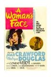 A Woman's Face, Joan Crawford, Melvyn Douglas, 1941 Plakater
