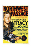 NORTHWEST PASSAGE, left: Spencer Tracy on midget window card, 1940 Prints