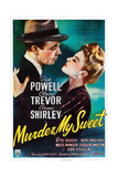 MURDER, MY SWEET, from left, Dick Powell, Claire Trevor, 1944 Posters