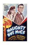 NAUGHTY BUT NICE, US poster art, from left: Ann Sheridan, Dick Powell, 1939 Print