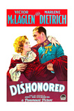 DISHONORED, from left on US poster art: Marlene Dietrich, Victor McLaglen, 1931 Poster