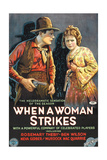 WHEN A WOMAN STRIKES, l-r: Ben Wilson, Rosemary Theby on poster art, 1919 Prints
