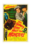 THE BOWERY BOYS MEET THE MONSTERS Posters