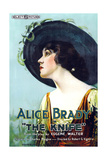 THE KNIFE, Alice Brady on 1-sheet poster art, 1918. Prints
