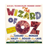 THE WIZARD OF OZ, jumbo window card, 1939. Prints