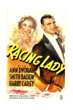 RACING LADY, US poster art, from left: Ann Dvorak, Smith Ballew, 1937 Posters