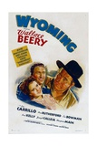 WYOMING, from left: Ann Rutherford, Leo Carrillo, Wallace Beery, 1940 Posters