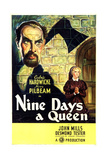 TUDOR ROSE, (aka NINE DAYS A QUEEN), US poster art, from top: Cedric Hardwicke, Nova Pilbeam, 1936 Prints