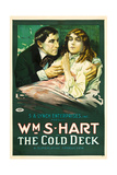 THE COLD DECK, l-r: William S. Hart, Mildred Harris on poster art, 1917. Prints