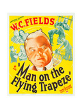 MAN ON THE FLYING TRAPEZE, W.C. Fields, Mary Brian on window card, 1935. Prints