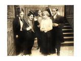 CHASE ME CHARLIE, second from left: Charlie Chaplin on lobbycard, 1918. Prints
