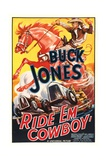 RIDE 'EM COWBOY, top: Buck Jones, 1936. Posters