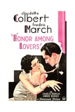 HONOR AMONG LOVERS, from left on US poster art: Claudette Colbert, Fredric March, 1931 Prints