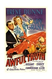 THE AWFUL TRUTH, Cary Grant, Irene Dunne, 1937 Art