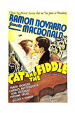 THE CAT AND THE FIDDLE, from left on US poster art: Jeanette MacDonald, Ramon Novarro, 1934 Posters