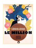 Le Million, Rene Lefevre, Annabella, French poster art, 1931 Posters