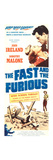 THE FAST AND THE FURIOUS, top l-r: Dorothy Malone, John Ireland on insert poster art, 1955 Prints