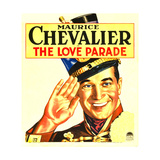 LOVE PARADE, THE, Maurice Chevalier on window card, 1929 Poster