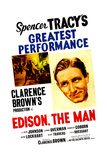 EDISON, THE MAN, US poster, Spencer Tracy, 1940 Posters
