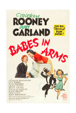 BABES IN ARMS, Mickey Rooney, Judy Garland, 1939. Art