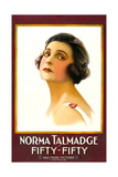 FIFTY-FIFTY, Norma Talmadge on 1-sheet poster art, 1916. Print