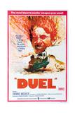 DUEL, Australian poster, Dennis Weaver, 1971 Art