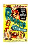 BAGDAD, US poster, Maureen O'Hara, Paul Christian, (aka Paul Hubschmid), 1949 Prints