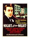 NIGHT AFTER NIGHT, George Raft on midget window card, 1932. Prints