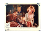 THE NIGHT OF LOVE, l-r: Ronald Colman, Vilma Banky on lobbycard, 1927. Art