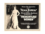 THOUGHTLESS WOMEN, on left: Alma Rubens; Title card, 1920. Posters