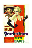 BORDERTOWN, Paul Muni, Bette Davis on midget window card, 1935. Posters