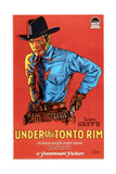 UNDER THE TONTO RIM, US poster, Richard Arlen, 1928. Prints