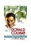 ARROWSMITH, Ronald Colman, 1931. Poster