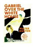 GABRIEL OVER THE WHITE HOUSE, left: Walter Huston on midget window card, 1933. Prints