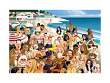 Vanity Fair - March 2013 - Three Days at the Beach Regular Giclee Print by Andre Carrilho
