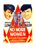 NO MORE WOMEN, left: Edmund Lowe, right: Victor McLaglen on midget window card, 1934. Posters