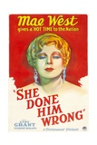 SHE DONE HIM WRONG, Mae West, 1933 Prints