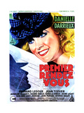 HER FIRST AFFAIR (PREMIER RENDEZ-VOUS), French poster, Danielle Darrieux, 1941 Prints