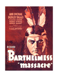 MASSACRE, Richard Barthelmess on midget window card, 1934. Prints