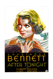 AFTER TONIGHT, US poster art, Constance Bennett, 1933 Prints