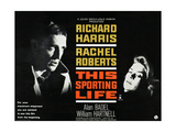 THIS SPORTING LIFE, US lobbycard, from left: Richard Harris, Rachel Roberts, 1963. Posters