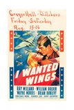 I WANTED WINGS, l-r: Veronica Lake, Ray Milland on window card, 1941. Print