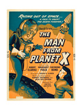 THE MAN FROM PLANET X, l-r: Pat Goldin, Margaret Field on poster art, 1951. Print