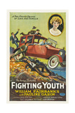 FIGHTING YOUTH, style 'A' poster, top right: Pauline Garon, 1925. Posters
