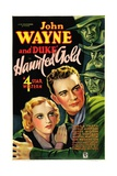 HAUNTED GOLD, from left: Sheila Terry, John Wayne, 1932. Posters