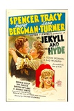 DR. JEKYLL AND MR. HYDE, Spencer Tracy, Lana Turner, Ingrid Bergman, 1941 Plakater