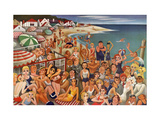 Vanity Fair - September 1933 - Hollywood's Malibu Beach scene Regular Giclee Print by Miguel Covarrubias