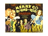 MERRY GO ROUND OF 1938, bottom from left: Bert Lahr, Billy House, Mischa Auer, Jimmy Savo, 1937 Poster