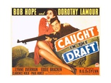 CAUGHT IN THE DRAFT, from left: Dorothy Lamour, Bob Hope, 1941. Prints
